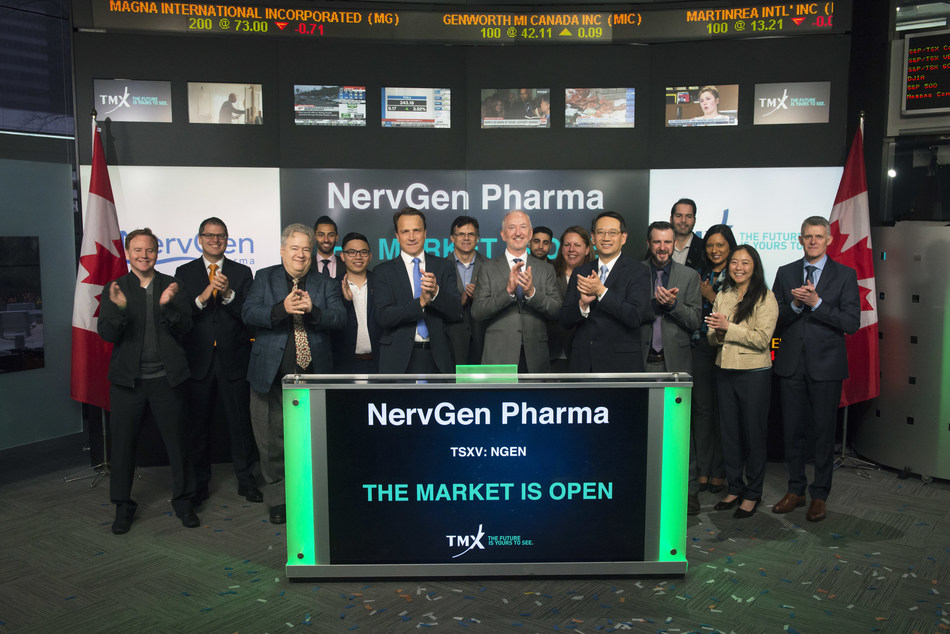 NervGen Pharma Corp. Opens the Market (CNW Group/TMX Group Limited)