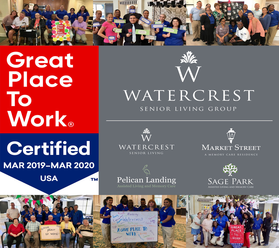 Watercrest Senior Living Group celebrates their second year as a certified Great Place to Work as associates showcase what they value most as part of the Watercrest family.