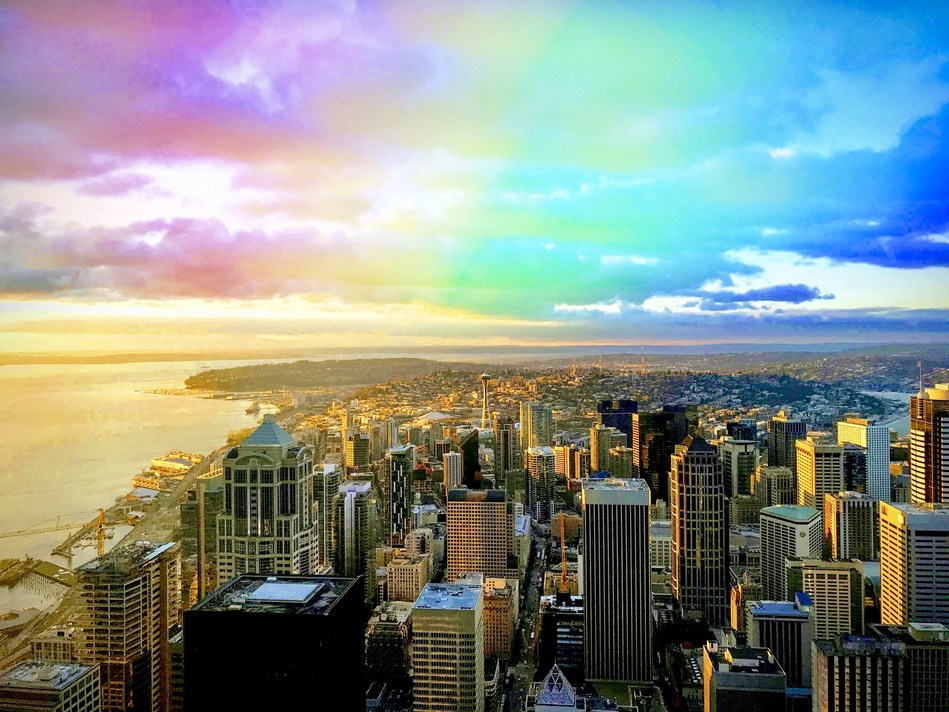 Seattle Pride at Sky View Observatory