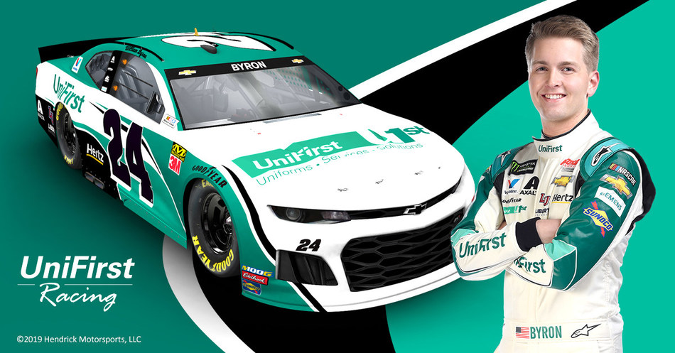 UniFirst NASCAR Driver William Byron Debuts the No. 24 UniFirst Chevy on Saturday, May 11.