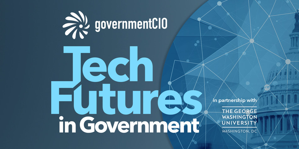 Government leaders from the White House, Veterans Affairs, GSA, Homeland Security and Defense Health Agency on May 9 at George Washington University to discuss what's next in federal technology.