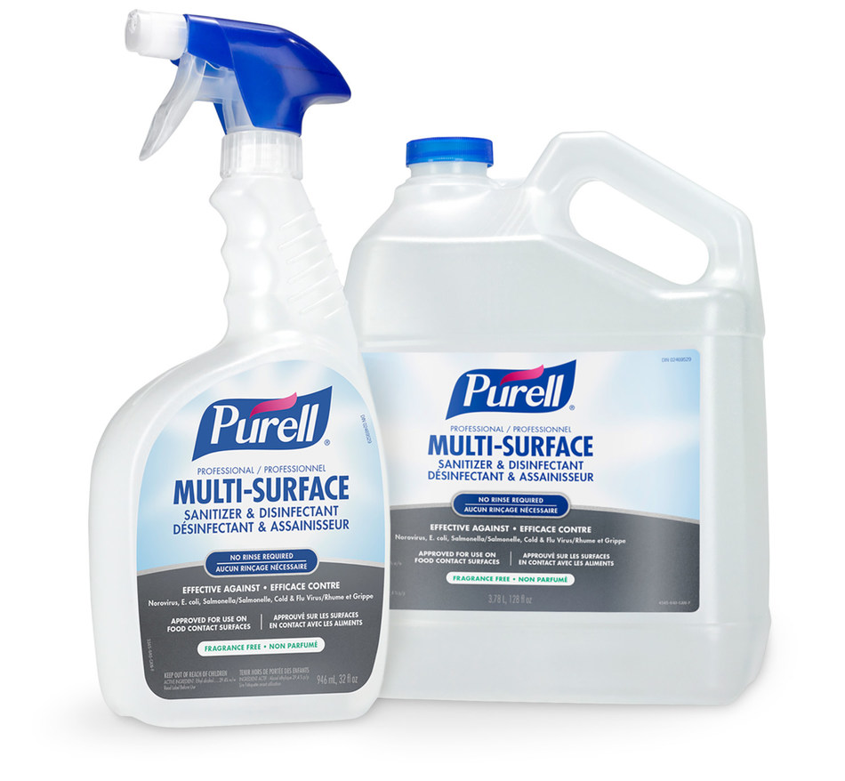 Backed by more than 25 years of scientific expertise, the PURELL® brand brings you a surface disinfectant with PURELL TOUCHABLE™ Technology that eliminates 99.9% of germs, including Norovirus and Cold & Flu viruses in 30 seconds. It's a one-step disinfectant and cleaner that dissipates quickly and cleanly with no streaks or sticky residue.