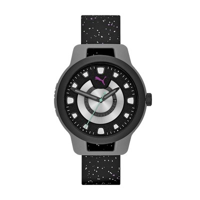 PUMA Men's RESET Black Silicone Watch - Limited Edition