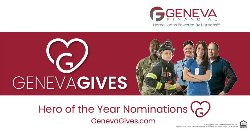 Geneva Financial through its Geneva Gives initiative, announces inaugural Hero of the year Nominations