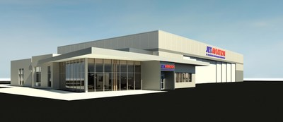 Artist's rendering of Jet Aviation's future FBO in Scottsdale, Arizona