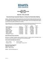 Bonavista Energy Corporation Reports on Voting From Shareholders Meeting (CNW Group/Bonavista Energy Corporation)