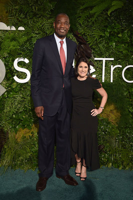 Dikembe Mutombo and Susannah Schaefer attend Smile Train's 20th Anniversary Gala at Capitale on May 02, 2019 in New York City. (Photo by Bryan Bedder/Getty Images)