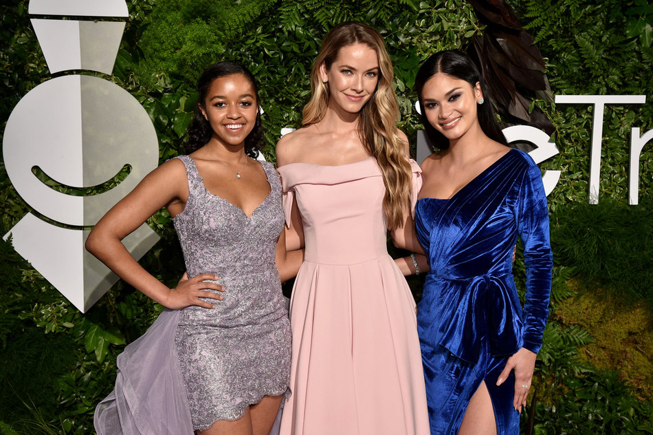 Hailey Colborn, Olivia Jordan and Pia Wurtzbach attend Smile Train's 20th Anniversary Gala at Capitale on May 02, 2019 in New York City. (Photo by Bryan Bedder/Getty Images)