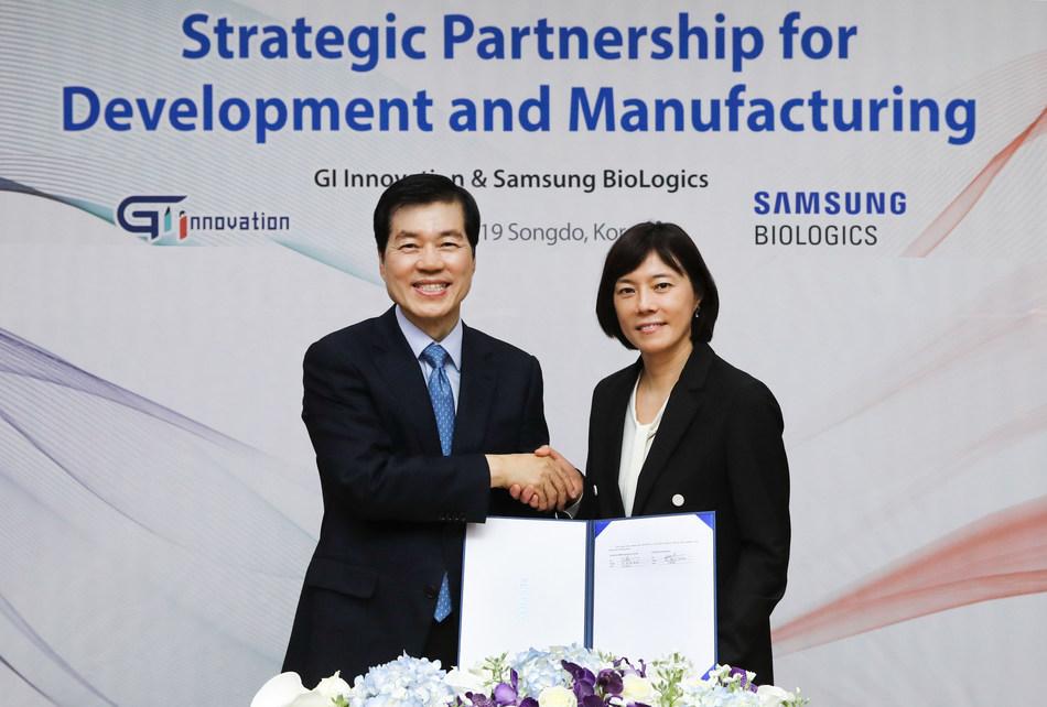 Samsung BioLogics (CEO: Tae Han Kim) and GI Innovation (CEO: Soo Yeon Nam)