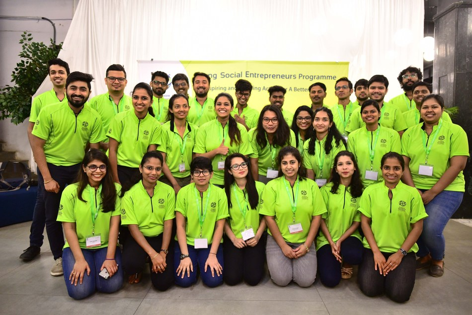 35 young social entrepreneurs from across India convened in Bangalore for a two-day workshop as part of the Singapore International Foundation's 2019 series of Young Social Entrepreneurs (YSE) Overseas Workshops. These young changemakers join the global YSE network of over 1,000 changemakers from 30 nationalities. (PRNewsfoto/SIF)
