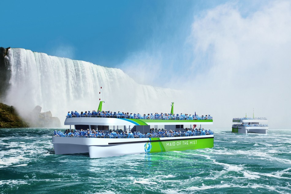Maid of the Mist, which has been navigating the waters of the Lower Niagara River since 1846, is preparing to launch the first two new all-electric, zero-emission passenger vessels constructed in the United States. Later this year, the catamaran-style vessels will provide more than 1.6 million guests from around the world with an up-close, iconic view of Niagara Falls.