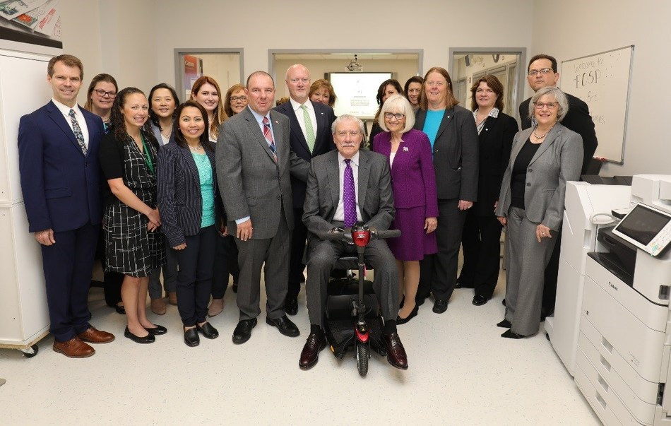 L to R: Russ Cusick, The Viscardi Center; Alice Muterspaw and Ericka Wishin, Abilities, Inc. at The Viscardi Center; Lisa Chung, Canon U.S.A.; Erin Yackavage and Hycie Gelera, Canon Solutions America; Colleen Crispino, The Viscardi Center; Peter Zuckerman, Town Councilman; John Reilly, Suzanne Beeman, and Stephanie Caro, Canon Solutions America; Judi Bosworth, Town of North Hempstead Supervisor; Lauren Marzo, The Viscardi Center; Tracie Sokol, Canon U.S.A.; Kim Collins, Canon Solutions America; Paul Albano, Canon U.S.A.; Candida Cucharo, Abilities, Inc. at The Viscardi Center