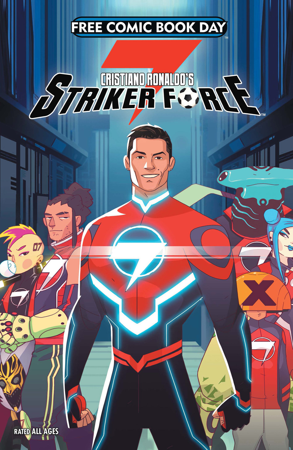 Cristiano Ronaldo's Striker Force 7 Cover for Free Comic Book Day