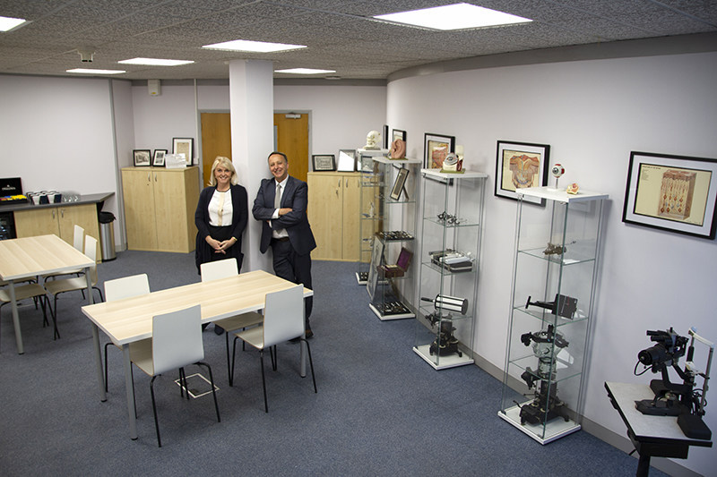 Clinical Training Manager, Grant Duncan & Clinical Training Co-ordinator, Victoria Chapman-Brown, in the new 'Hub'