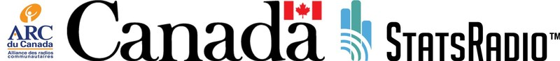 Logo: Alliance des radios communautaires / Government of Canada / StatsRadio (CNW Group/StatsRadio)