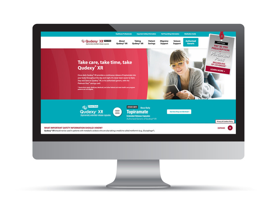 Newly Designed Qudexy® XR Website Gives Patients Easy Access to Information About Migraine Prevention