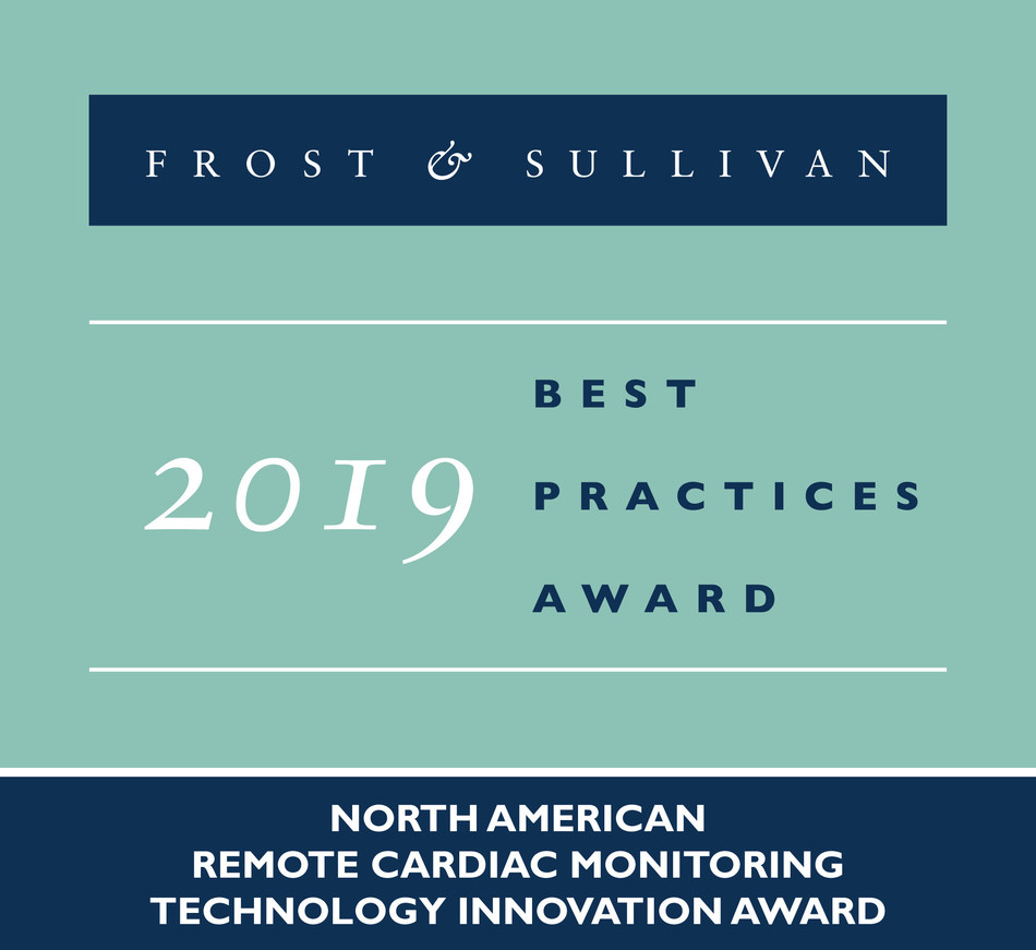 2019 North American Remote Cardiac Monitoring Technology Innovation Award (PRNewsfoto/Frost & Sullivan)