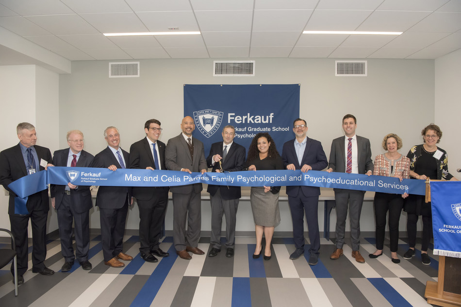 Yeshiva University joined New York City and State elected officials with university leadership, students, and faculty to inaugurate newly enlarged and enhanced facilities for the Max and Celia Parnes Family Psychological and Psychoeducational Services Clinic.