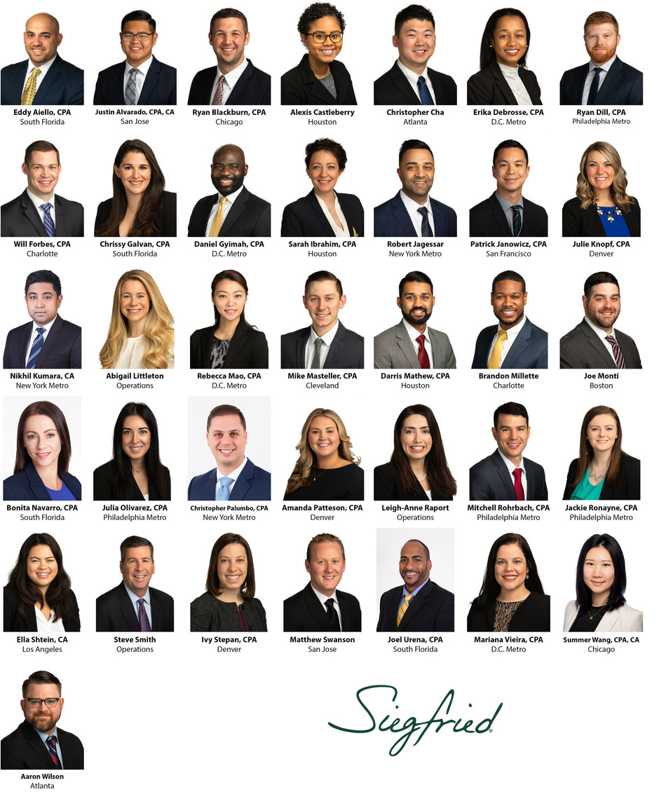 Siegfried Welcomes New Professionals; Employees Travel to Las Vegas, NV for Orientation