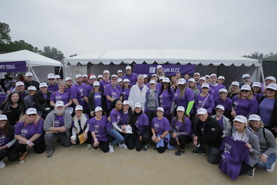 Alex Trebek joins Team Alex--Jeopardy staff, friends and family at Pancreatic Cancer Action Network's PurpleStride Los Angeles, the walk to end pancreatic cancer.