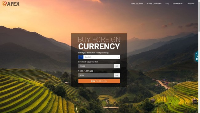 Currency order screen