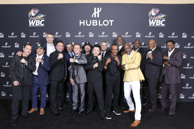 All the champions wearing the Hublot Big Bang Unico WBC