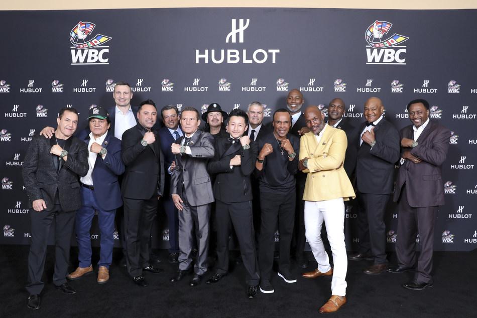 All the champions wearing the Hublot Big Bang Unico WBC (PRNewsfoto/Hublot)