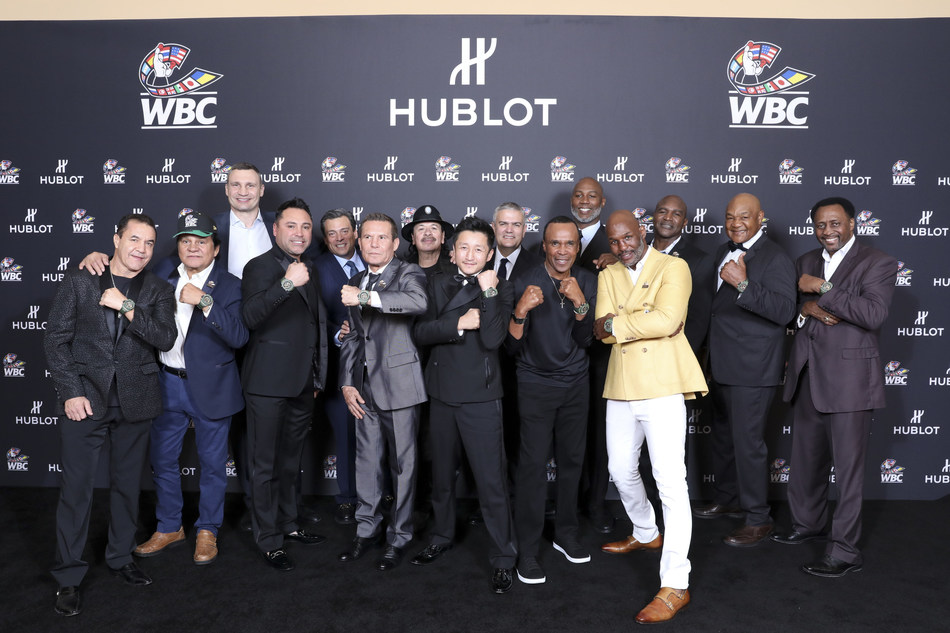 All the champions wearing the Hublot Big Bang Unico WBC (PRNewsfoto/Hublot)