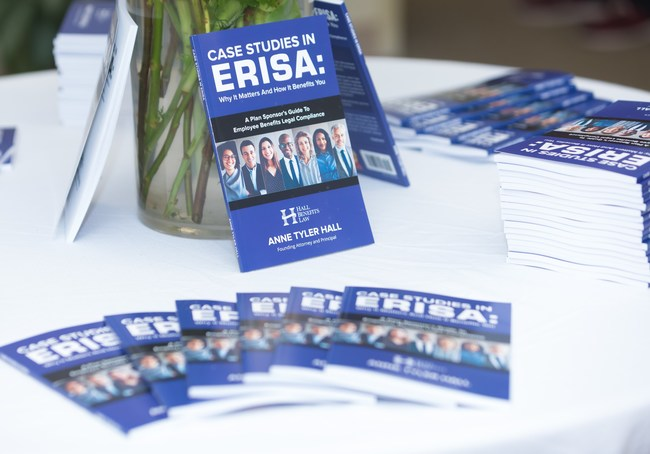 Hall's new book, Case Studies in ERISA: Why It Matters and How It Benefits You, is currently the #1 new release in Corporate Law on Amazon. Attendees received a free copy of the book. Early RSVP's received a personalized copy of the book and were registered for an exclusive giveaway.