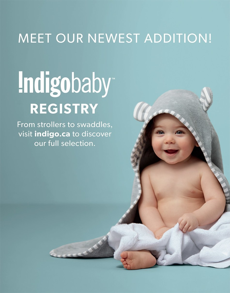 Indigo Launches New Baby Gift Registry (CNW Group/Indigo Books & Music Inc.)