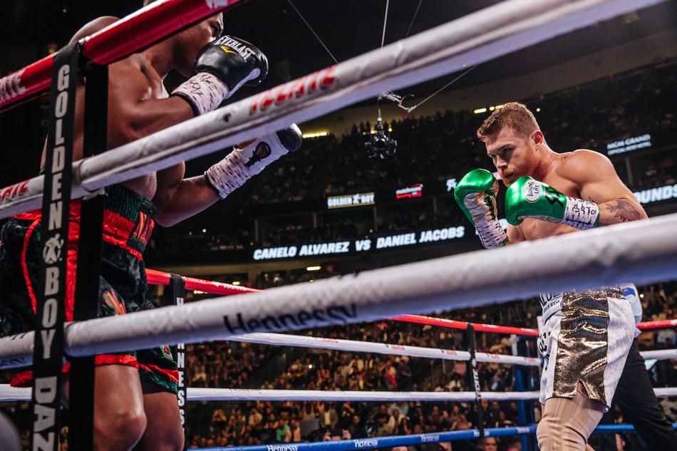 Canelo Álvarez and Daniel Jacobs (PRNewsfoto/Hennessy)