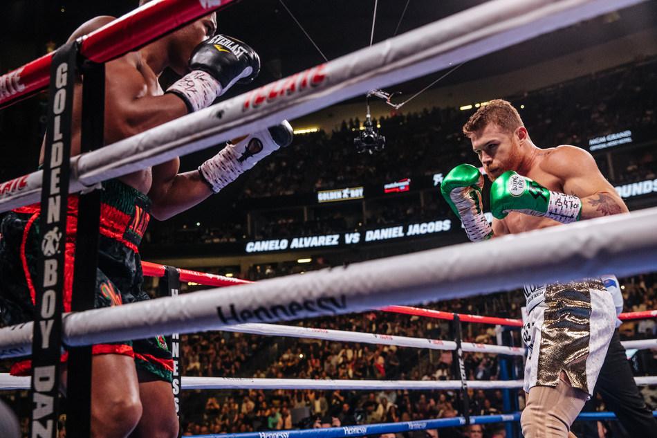 Canelo Álvarez y Daniel Jacobs (PRNewsfoto/Hennessy)