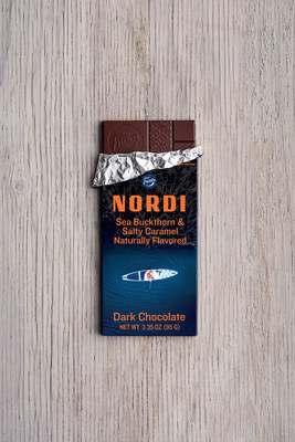 NORDI Chocolate Sea Buckthorn & Salty Caramel - 70% Dark Chocolate
