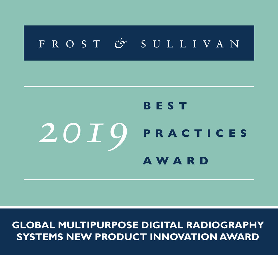 2019 Global Multipurpose Digital Radiography Systems New Product Innovation Award (PRNewsfoto/Frost & Sullivan)