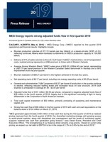 MEG Energy 1Q19 News Release (CNW Group/MEG Energy Corp.)