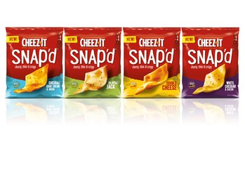 Cheez-It Snap'd have officially hit shelves nationwide. This super thin, crispy, munchable snack with real cheese inside and out provides seriously big cheese flavor and is the perfect complement to watching your favorite TV series. In fact, they're so insanely munchable people have been grabbing multiple bags at stores—and Cheez-It is genuinely concerned about an impending cheese shortage.