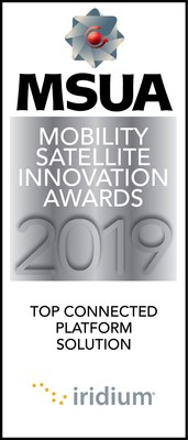 Iridium's new specialty broadband service, Iridium Certus, has won the 'Top Connected Platform Solution' award at the Mobile Satellite Users Association's 2019 Mobility Satellite Innovation Awards.