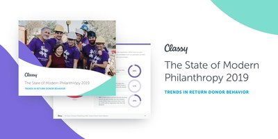 The State of Modern Philanthropy 2019 is Classy's second annual report examining the behavior of nonprofit donors and fundraisers across nearly 1 million charitable donations.