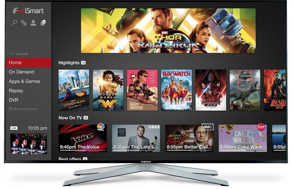 iFeelSmart's Android TV Operator Tier UI : Centaurus