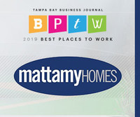 Mattamy Homes is proud to announce that the company has been named as one of Tampa Bay's Best Places to Work by the Tampa Bay Business Journal. (CNW Group/Mattamy Homes Limited)