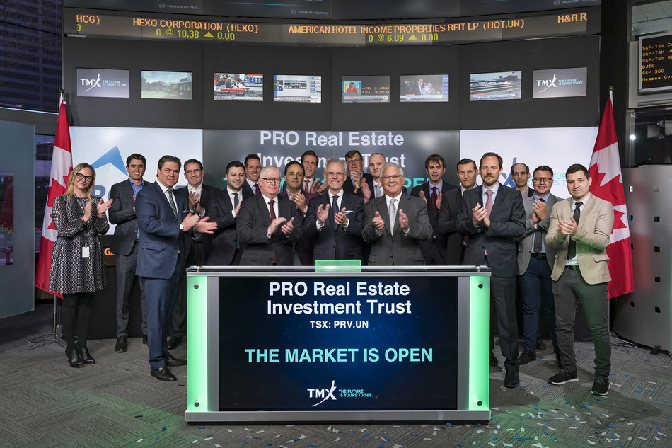 PRO Real Estate Investment Trust Opens the Market (CNW Group/TMX Group Limited)