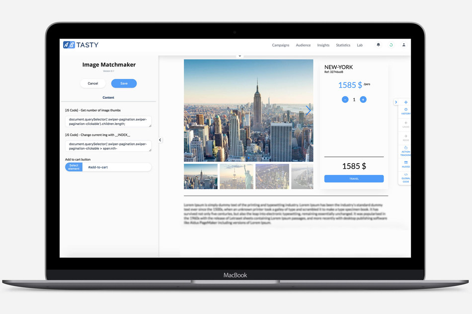 AB Tasty recently launched the dynamic widget Image Matchmaker, which automates visual content delivery on product pages.