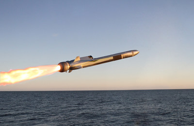 "Known for its ""sea-skimming"" capability, the Naval Strike Missile can fly at very low altitudes over water and land. (Photo: Kongsberg)"