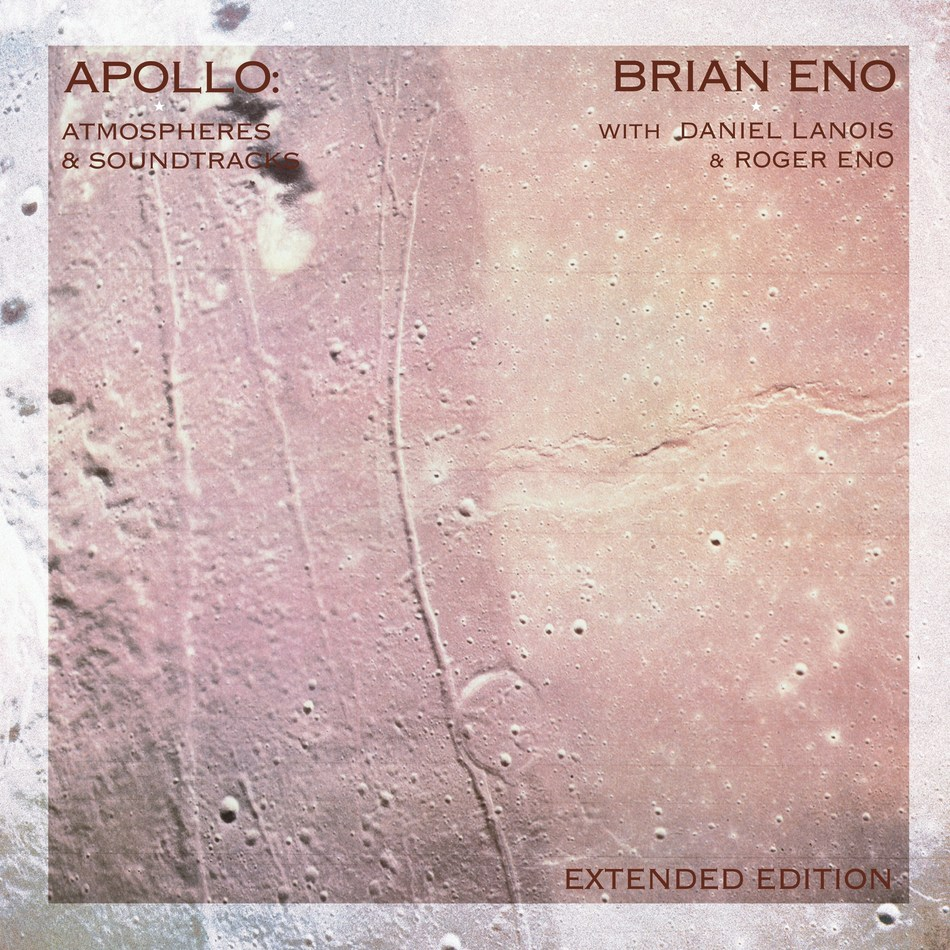 Brian Eno - Apollo: Atmospheres & Soundtracks - Extended Edition July 19th UMe Apollo: Atmospheres & Soundtracks was written, produced and performed by Brian Eno together with his brother Roger and Daniel Lanois. An extended edition of the album will be released on July 19th in celebration of the 50th Anniversary of the Apollo 11 moon landing. The music from the original album is highly recognizable, and tracks from it have been streamed in excess of 300 million times.