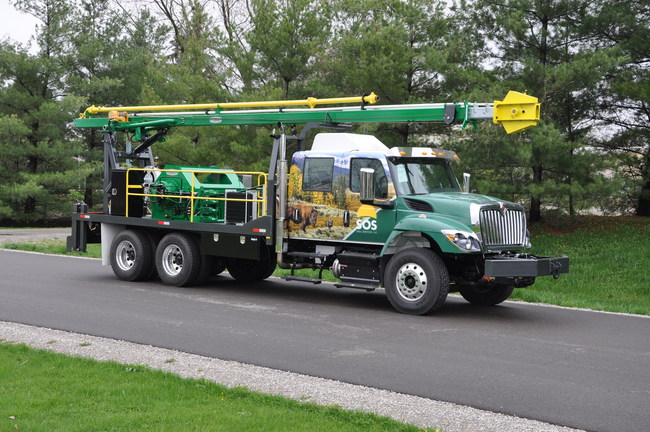 "The SOS Well Services, LLC ""Wildlife Conservation Swab Rig."" The rig is boldly wrapped with a wildlife theme to draw attention to the cause, but more importantly a percentage of its yearly revenue will be donated to the ""Wildlife Conservation Fund"" in Wyoming."