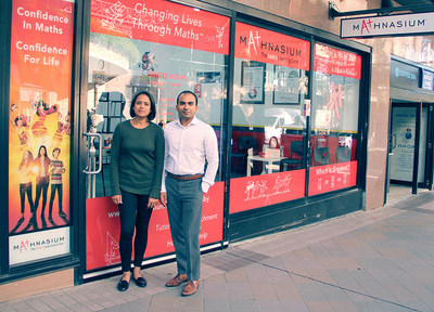 Ratika Khandelwal and Himanshu Gupta, master franchisors for New South Wales and Australian Capital Territory, at the flagship Mathnasium Learning Centre.