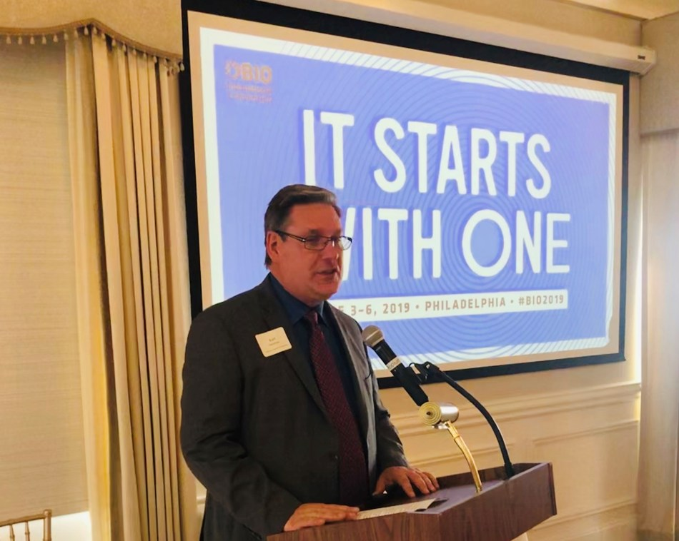 Kurt Foreman, President and CEO of the Delaware Prosperity Partnership, speaking to Delaware's strength in bioscience and leadership presence at the upcoming BIO convention in Philadelphia.