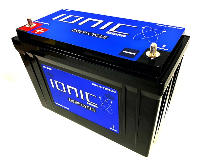 12V Ionic Lithium Battery 100Ah