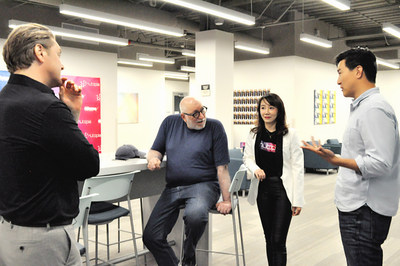 Jeffrey Wernick, an early investor of Airbnb, Uber & Bitcoin with Nutopia's founder and CEO June Chu, at Nutopia's first workshop with entertainment industry insiders.