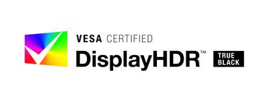 VESA Certified DisplayHDR True Black brand logo.